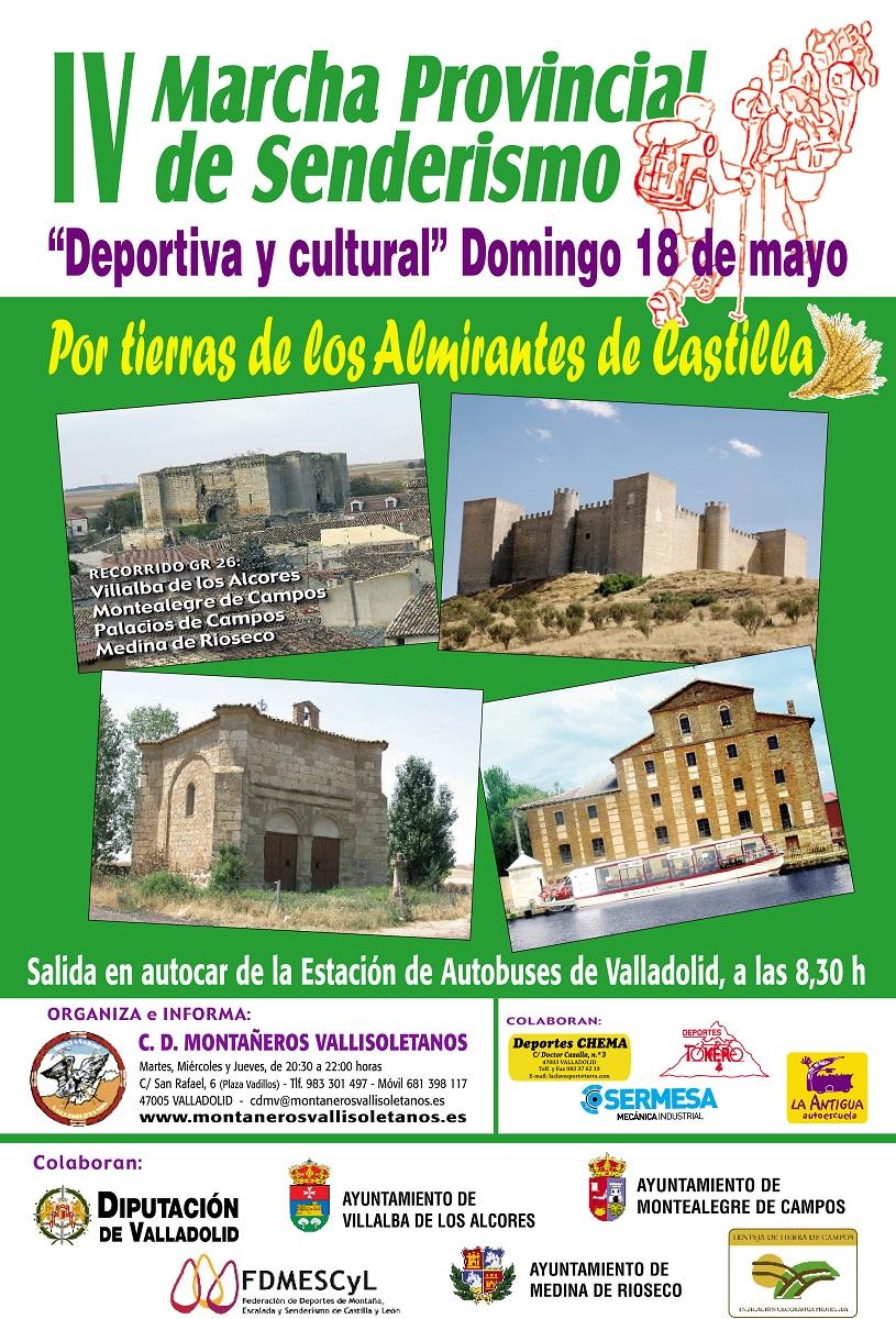 Cartel de la IV Marcha Provincial de Senderismo. / Diputación de Valladolid
